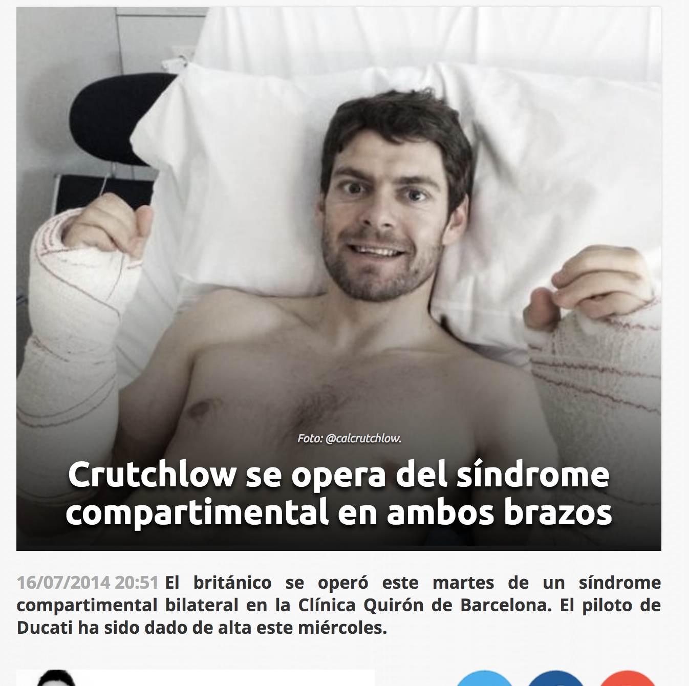 Crutchlow sindrome compartimental icatMA
